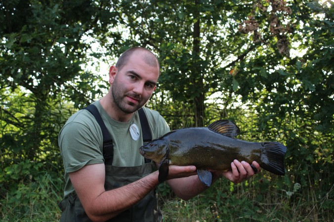 Mike Linstead with a 6lb 2oz Tench