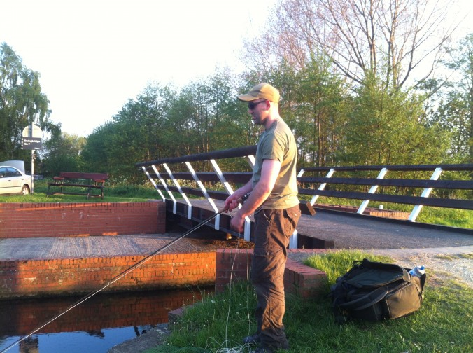 Mike Linstead Fly Fishing For Pike on Pocklington Canal