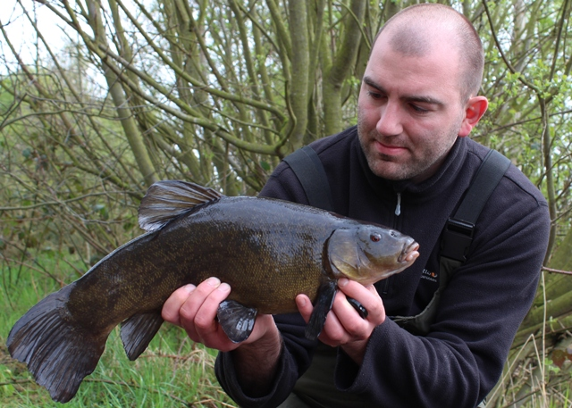 Mike Linstead with a 5lb+ Tench