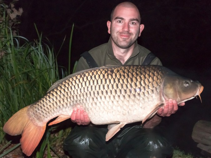Mike Linstead with a 33lb 5oz Common Carp from Brocard Lake in France