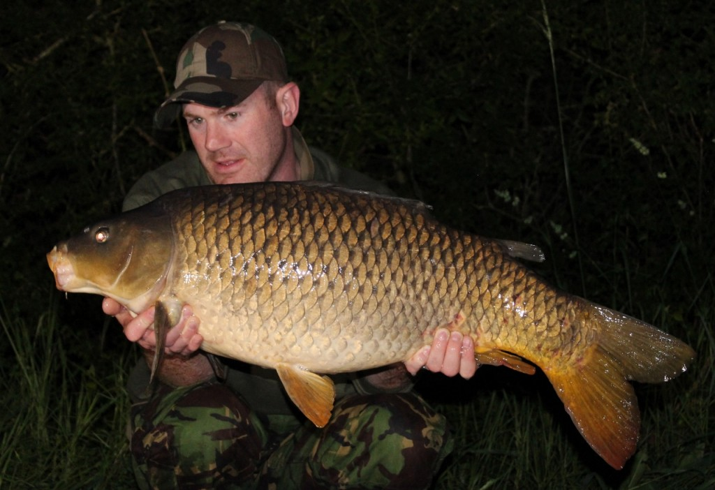 Matt Linstead with a Blue Lake Common Carp