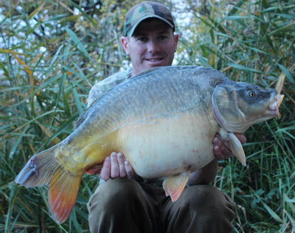 Just like buses. Matt landed this 23lb mirror carp within a few minutes of re-casting.