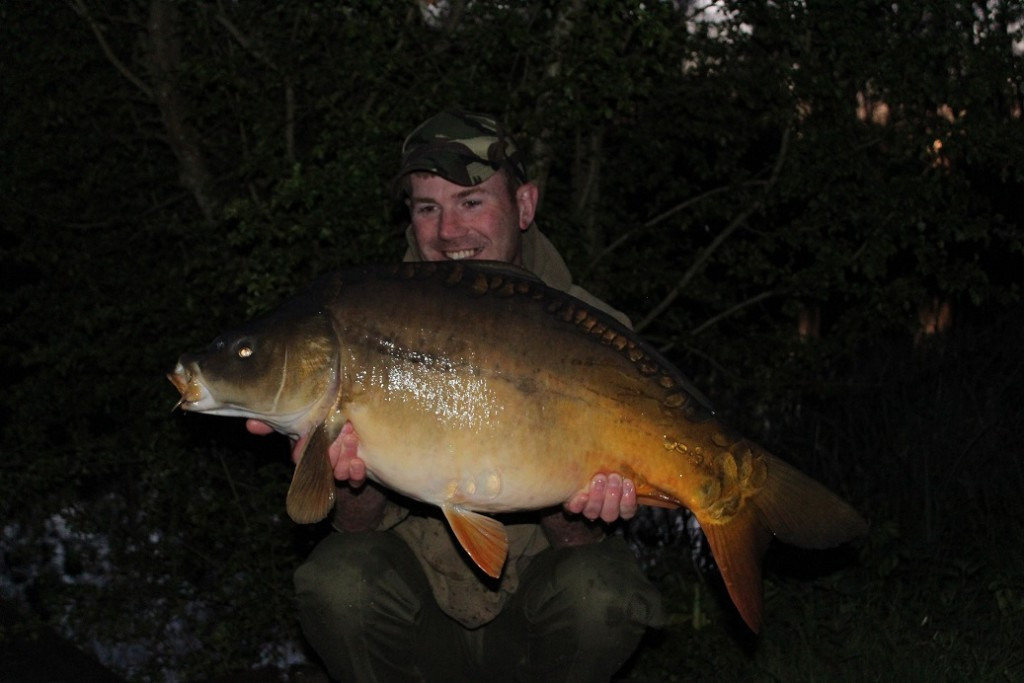 Matt with another La Fonte Mirror Carp