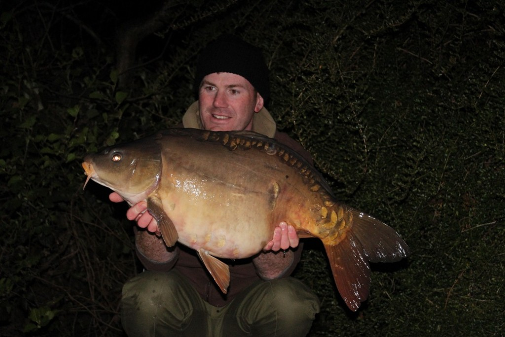 Matt Linstead and a La Fonte Mirror Carp
