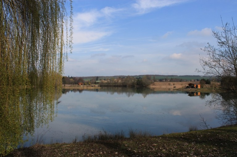 View of Deux Iles Carp Lake, France